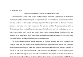 the many functions of tiresias in sophocles oedipus rex a level  document image preview