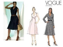 Vogue Dress Patterns Magnificent Pattern Vogue 48 Woman Dress Fabricshemmers