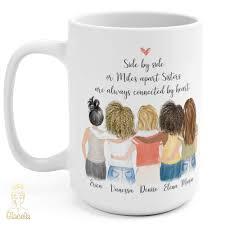 Coffee shop in bangkok, thailand. Six Women Custom Best Friends Mug Glacelis