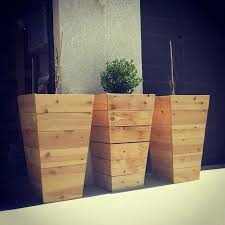 diy tall planter with these tall planters