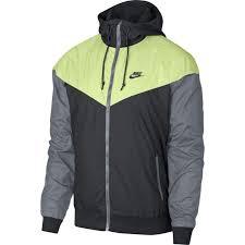 Nike Sportswear Windrunner 727324 060 Anthracite Barely Volt Mens Jacket