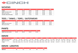 Mens Jacket Sizes Conversion Chart Size Chart Cinch Jeans Online Store