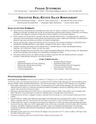 Free Real Estate Sales Manager Resume Templates At