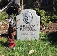 Outdoor Halloween Props Freddy Krueger Grave Outdoor Props Halloween Graveyard