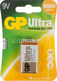 Купить 9V <b>Батарейка GP Ultra</b> Alkaline 1604AU 6LR61 в интернет ...