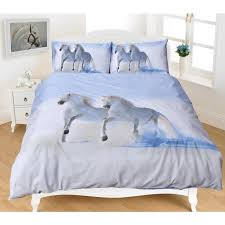 white horses doona set filly and co