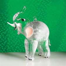 Elephant Glass Italian Christmas Ornament The Cottage Shop