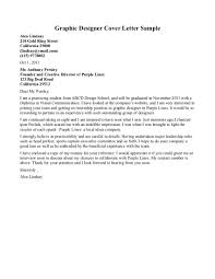 Cover Letter Examples Cover Letter Graphic Design Practicum   Template net