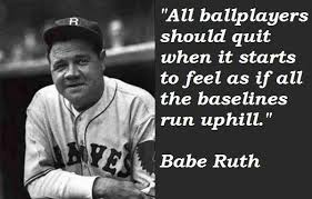 Famous Baseball Quotes Gorgeous Babe Ruth Quotes Inspiration Famous Baseball Quote Babe Ruth Quote