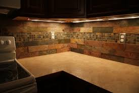 excellent natural patterns subway slate backsplash as decorate country style kitchen designs inspiration tiles
