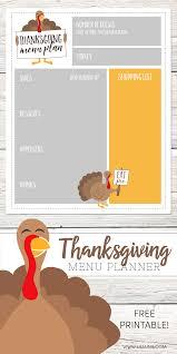 Free Thanksgiving Menu Planner Lil Luna