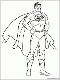 On of the first and most memorable comic book characters was our very own superman. Superman Coloring Pages Superhero Coloring Pages Free Printable Coloring Pages Online