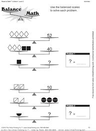 pan balance problems free printable worksheets worksheetfun
