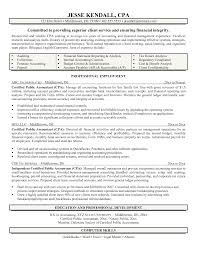 cpa sample resume sample resume  cpa