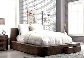 low platform beds with storage. Low Platform Bed King Decorating Elegant Solid Wood Transitional Storage Rustic B Beds With