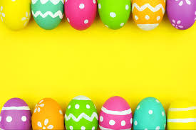 Color Easter Eggs Photography Background Yellow Backdrops