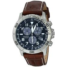 citizen men s bl5250 02l titanium eco drive watch with leather band 1 png