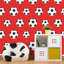 Bolcom Voetbal Behang Rood