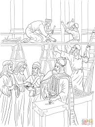 Small Picture Joash Repairs the Temple coloring page Free Printable Coloring Pages