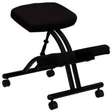 kneeling office chair. Mobile Ergonomic Kneeling Office Chair In Black Fabric R