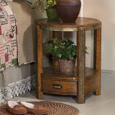 york round end table