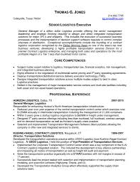 Resume Examples For Logistics Management Specialist Refrence Cosy ...