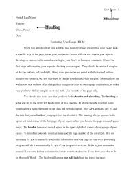 College Essay Header Examples Nonlogic