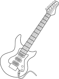 Small Picture Electric Guitar Line Art Free Clip Art