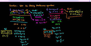 additional math simultaneous linear equations in two variables practice 1