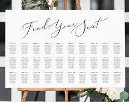 Etsy Table Seating Chart Landscape Seating Chart Instant Download Portrait Etsy