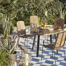 john lewis leaf 4 seater table chairs set fsc certified acacia natural from our garden furniture sets range at john lewis