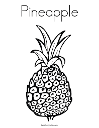 Small Picture Pineapple Coloring Page Twisty Noodle