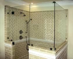 half walls inline panels return shower glass panel wall black ups nz installing to