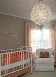 nursery with white furniture. 10 From Apartment Therapy - Gray And Coral Nursery With White Furniture E