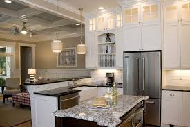 beach style lighting. Counter Depth Refrigerators Kitchen Beach Style With Coffered Ceiling  Shaped Apron- Lighting