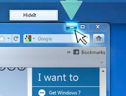 Image result for image of windows minimise section
