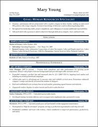 Entry Level Hr Resume Examples Generalist 12 Entrylevel Hrspeci