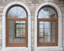 Granite Arched Home Window Design Ideas : Exterior Home Window .