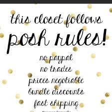 Posh Closet Other Posh Closet Rules Poshmark