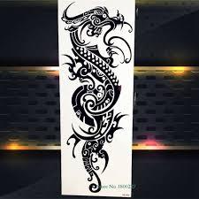 большая полная рука флэш временная татуировка стикер со змеей мечом молим нун