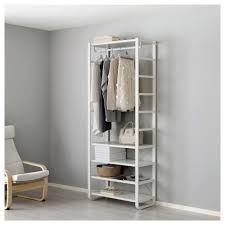 storage closet shelving systems and best of elvarli 1 section white ikea life tips