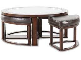 coffee table round contemporary cocktail table in dark merlot mathis brothers coffee with 4 foot stools full size of