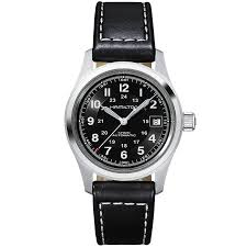hamilton watches berry s jewellers khaki field 38mm black dial men s automatic watch
