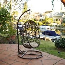 Furnitures:Morale New Cocoon Rattan Hanging Pod Chair Egg Chair Black Fancy  Egg Shaped Hanging