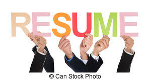 ... Group Of Hands Holding The Word Resume - Group Of..