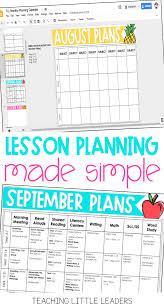 Lesson Plans Calendars Lesson Plan Series The Planning Calendar Teaching