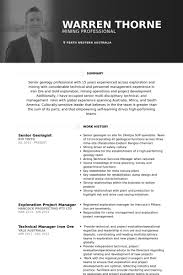Professional Resume Examples 2013 Enchanting Geologist Resume Samples VisualCV Resume Samples Database