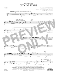 city of stars violin sheet music city of stars from la la land violin 1 sheet music at