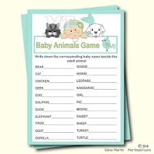 Cute Mermaid Baby Animal Game- Guess Animal Girl Baby Shower ...