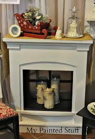 fireplace in booth birch log candle holder for i added some